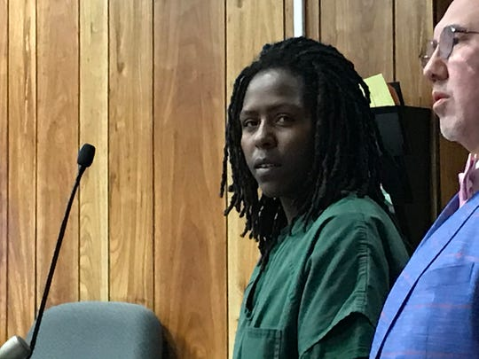 Ayana Baker in court with her attorney, Harley Breite