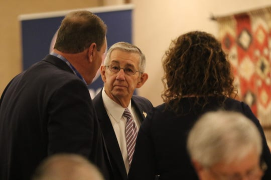 Carlsbad Mayor Dale Janway attends the annual WIPP Legislative Breakfast, Feb. 3, 2020 at the Hotel Santa Fe.