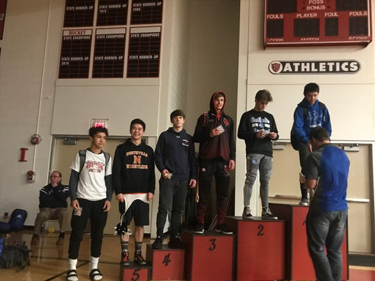 Churchill captain Aidan Haupt placed third at the Observerland Invitational, while CC's Caleb White placed second in the 125 pound weight class.