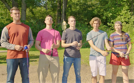Pictured from left are Dan Stoney, Matt Skubik, Kyle Clinton, Jay Jasinski and Jessica Estes.