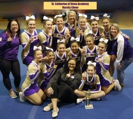 St. Catherine of Siena Academy cheer finished in first place at the Lakeland Invitational Saturday