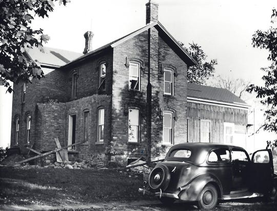 A 1940 photo of the Canton home that may have served as a station in the underground railroad.