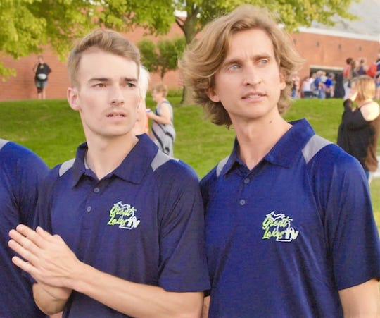 Canton High School graduates and longtime friends Kyle Clinton (left) and Jay Jasinski have started their own internet-based television network, Great Lakes TV.