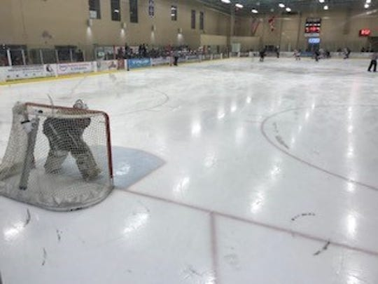 Hamilton goaltender Hayden Manning made a huge save in the shootout to help the Huskies advance to the state title game.