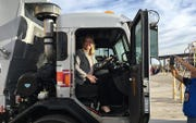 Phoenix Mayor Kate Gallego announced that the city has received a $1 million grant from the EPA to replace 10 of the city's diesel trucks with vehicles powered by compressed natural gas, which emit much less nitrogen oxide.