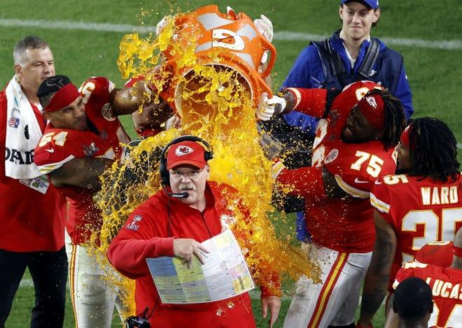 Andy Reid, veterano entrenador en jefe de los Chiefs.