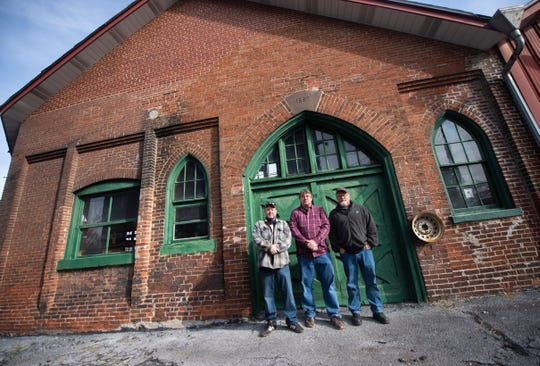 Left to right: Co-owners Michael Osborne, Kevin Booth and David Koch of Lebanon Valley Craft Brewery.
