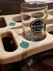 Custom tasting trays from Tim Terwilliger of local Silver State Woodworks will be ready for the grand opening of Local Beer Works on Feb. 29 in Midtown Reno.