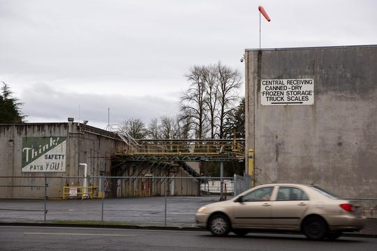 The mostly empty NORPAC plant in Stayton, Ore., on Jan. 22, 2020. The nearly century-old farmers' cooperative declared bankruptcy last year.
