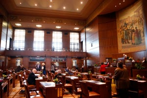 The Senate Chamber at the Oregon State Capitol