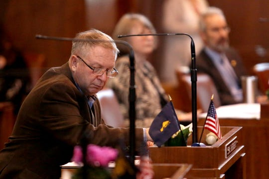 Sen. Herman Baertschiger, R-Grants Pass, on the first day of the short legislative session at the Oregon State Capitol in Salem on Feb. 3, 2020.