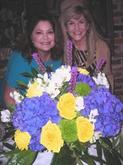 """Queen Gemini XXX Karen Baker and Queen Gemini XI Pat Delony were among """"Queens of Gemini"""" hosting a Royal Tea for Queen Gemini 2020 Mary Louise Stansell. Flowers were by Leanne Graves-Botanical Occasions."""