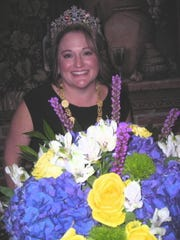 Queen Gemini XXXI Mary Louise Stansell at a Royal Tea  in her honor at the southeast Shreveport  home of Queen Gemini XVIII Noreen Dockendorf.