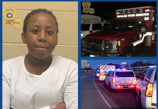 Kendall Tyson, 19, of Dallas, Texas, was arrested after she allegedly led police in a high-speed chase from Dallas to Bossier City in a stolen vehicle.