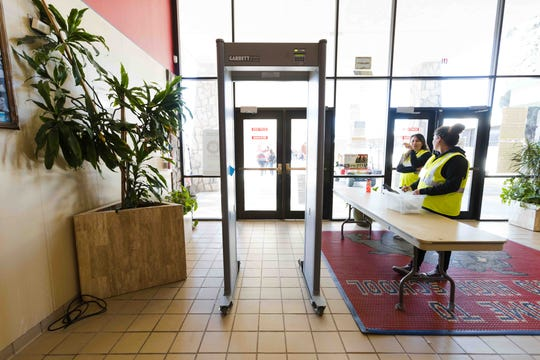 Nine metal detectors were installed at Socorro High School on Jan. 27, 2020. The Socorro Independent School District is evaluating their use on a weekly basis.