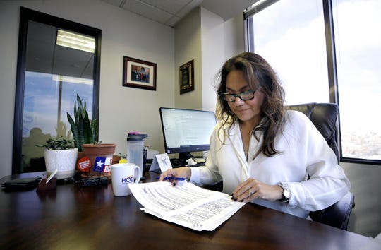U.S. Rep. Veronica Escobar works on her rebuttal to President Donald Trump's State of the Union Speech. Escobar has been chosen by the Democrats to give the Spanish rebuttal.
