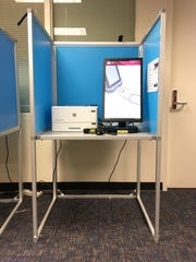This new voting equipment will show up at Ventura County polling places this March. A large tablet offers voters a way to make selections on a touchscreen. Then, they print their ballot.