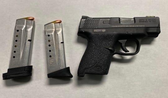 A handgun seized by Oxnard police.