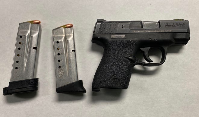 A handgun seized by Oxnard police.