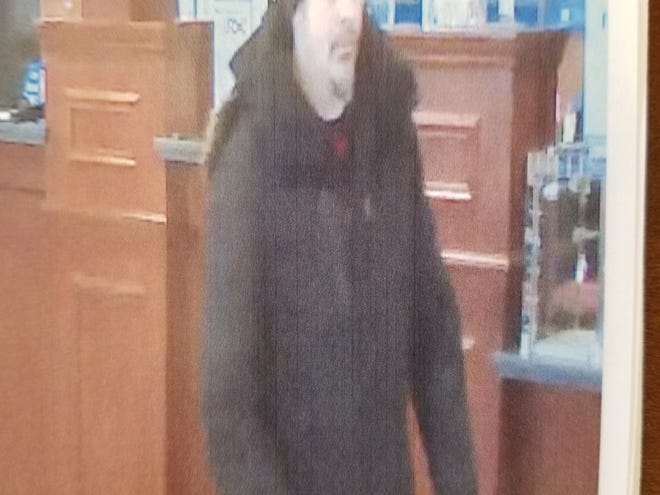 Bank surveillance camera photo of a man who police said robbed the Chase bank at 123 E. Route 59 in Nanuet on Monday, Feb. 3, 2020.