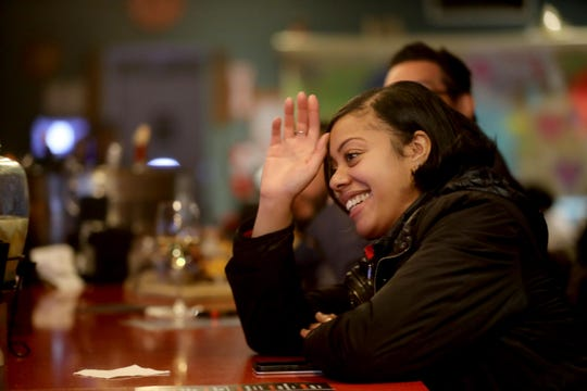 Jenifer Rodriguez, 31, of Yonkers, sits at the bar in Guapo Cocina Mexicana restaurant in Yonkers Jan. 31, 2020. She thinks that Yonkers is great city for singles because there a lot of people her age, as well as a great bar scene.