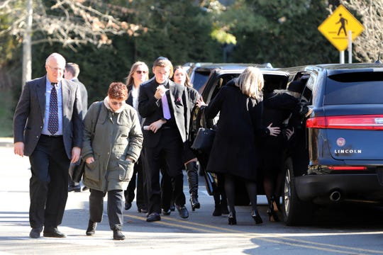 Preston Wachtell walks to the car after the funeral of his father, Jordan Wachtell, at Shaarei Tikvah in Scarsdale Feb. 3, 2020. The 57-year-old Ardsley father was killed in a Jan. 30, 2020, wrong-way crash on I-287. A passenger, 17-year-old Eric Goldberg of Ardsley, was also killed when a wrong-way driver crashed into their car. Preston Wachtell and another passenger survived the crash.