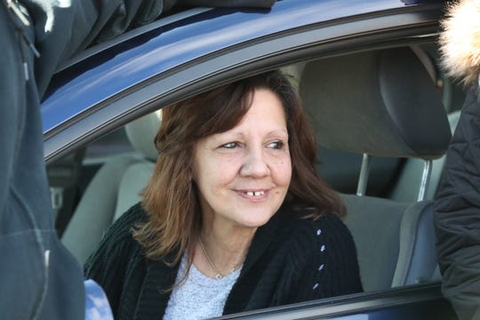Carolyn Fugate, a veteran from Pomona, picks up the car that was donated to her at Four Star Auto in Monsey Feb. 3, 2020.