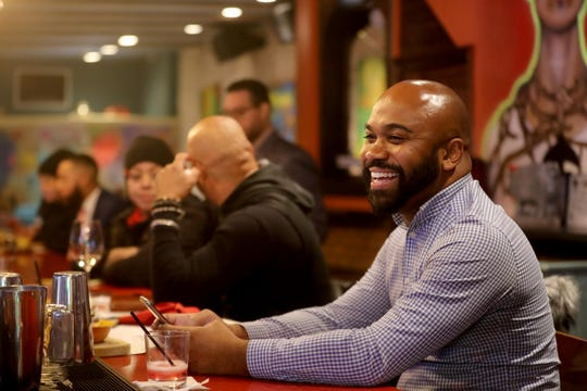 Antoine Gomes, 32, of Yonkers, sits at the bar in Guapo Cocina Mexicana restaurant in Yonkers Jan. 31, 2020. Gomes thinks that Yonkers is an up and coming city and a great place for singles.