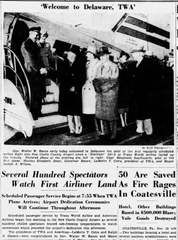 Wilmington welcomes a new airport on Nov. 29, 1947.