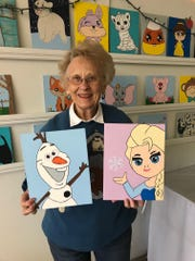 Join Pat's Tea Shoppe for its Frozen Painting Party 10 a.m. Saturday, February 8th 2020.