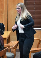 Anndi Risinger of the state's Special Prosecution Unit is the prosecutor for the trial of Allred Unit inmate Daniel Glenn Ostrander, who is representing himself.