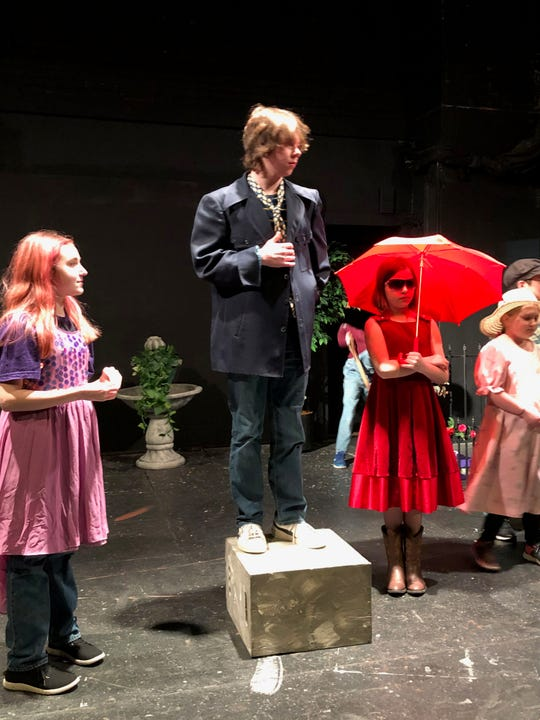 "Sophie Carder Brayden Grubb, Nicole Greulich and Ruthie Gross in a scene from ""The Beloved Dearly"" opening at the Zanesville Community Theatre."