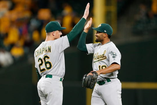 Oakland's Marcus Semien (third) and Matt Chapman (sixth) finished near the top of AL MVP voting in 2019.