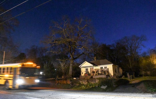 A man was fatally shot outside a home on the 1300 block of Evergreen Street in Anderson late Monday night.