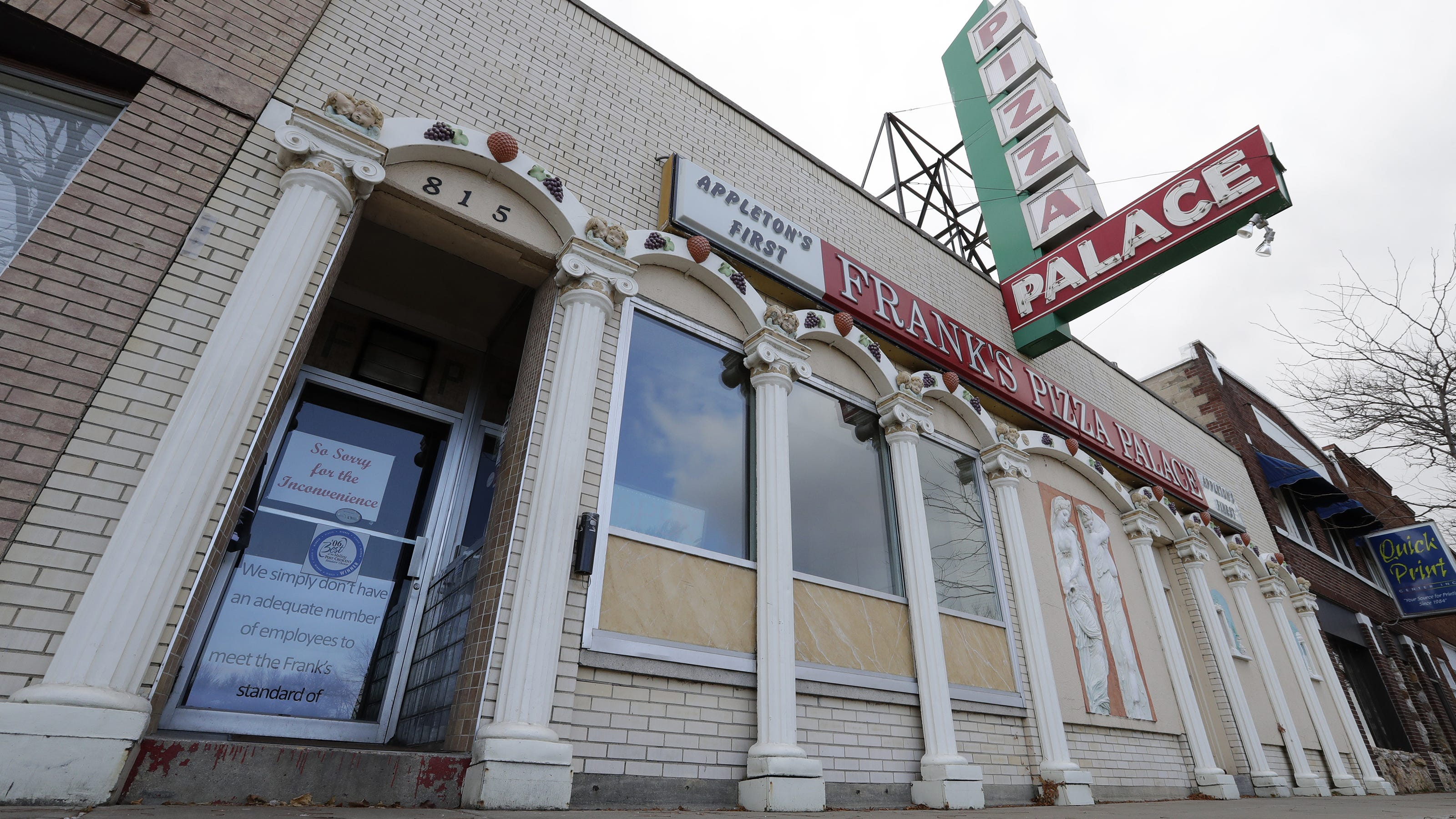 Post Crescent Halloween 2020 Appleton's first pizzeria, Frank's Pizza Palace, to reopen this spring