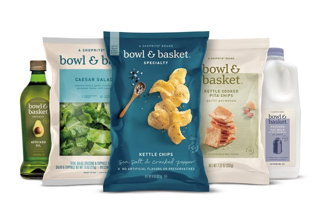 The ShopRite supermarket chain is rolling out new lines of store brand products under the names Bowl & Basket and Paperbird.