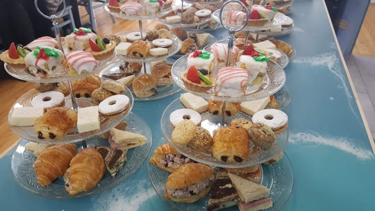 Pastries are served on tiered platters at High Tide Tea Co. in Ocean Grove.
