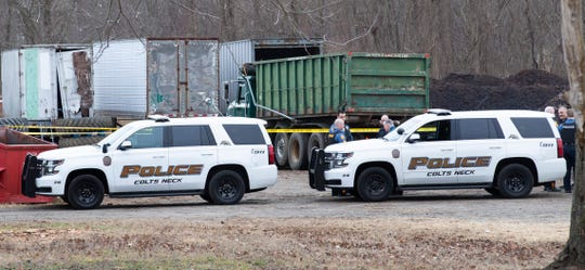 Scene of accident at 140 Crine Road in Colts Neck
