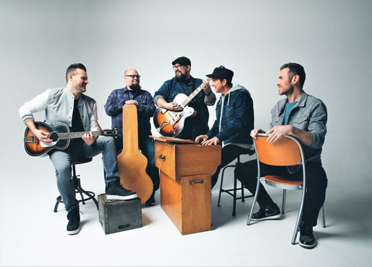 Big Daddy Weave is, from left, Jeremy Redmon, Jay Weaver, Mike Weaver, Joe Shirk and Brian Beihl. The Christian band performs Feb. 15 at the Paramount Theatre.