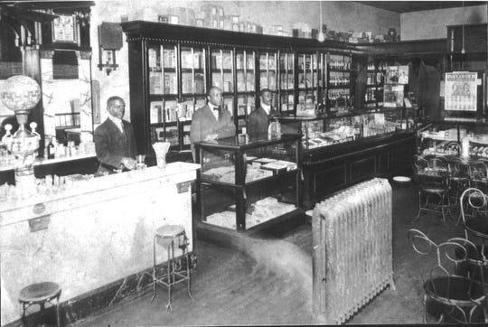 YMI Drugstore: The Young Men's Institute at Eagle and Market Streets became a cultural, educational, recreational and professional center in the black community in 1893 through the efforts of Isaac Dickson and Edward Stephens, and the willingness of George Vanderbilt to finance it for the benefit of his African-American employees. In 1905, the YMI board bought the building from Vanderbilt, and in 1980, a coalition of black churches rescued it financially by purchasing it for community use. The drugstore was one of the business intended to help generate income for continued operation and was part of the African-American district that flourished up through the 1960s.