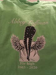 Students at Owego Free Academy wore a t-shirt in memory of 16-year-old classmate Abbey Luffman, who died Jan. 12 after a sudden illness.