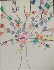 Everyone who visited Abbey Luffman in the hospital in Syracuse made a fingerprint tree. Abbey, 16, died on Jan. 12 after a sudden illness.