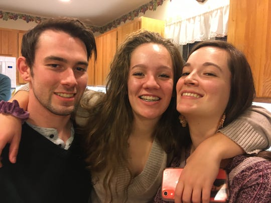 Craig, Abbey and Briann Luffman pictured on Thanksgiving 2019.