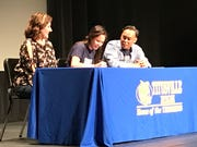 Titusville cross country/track & field athlete Billie Castillo, center, signs with University of North Florida