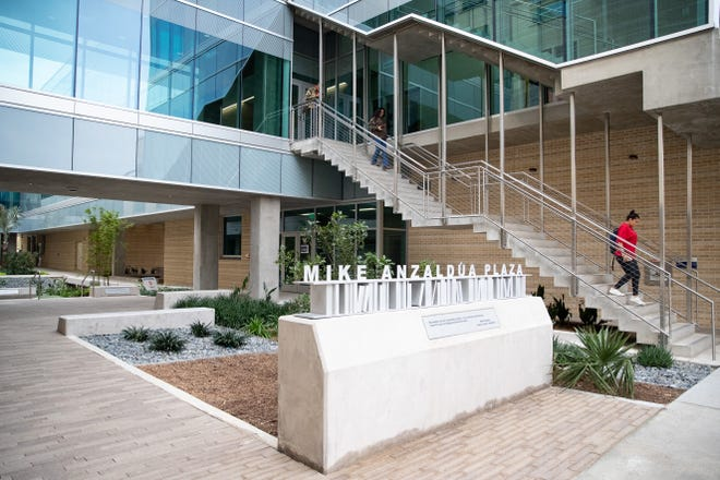 The new Mike Anzaldua Plaza at Del Mar College competed along with the General Academic and Music Building.