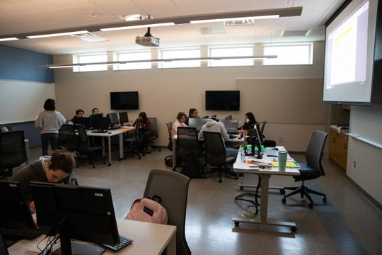 A new classroom at Del Mar College inside new the General Academic and Music Building.