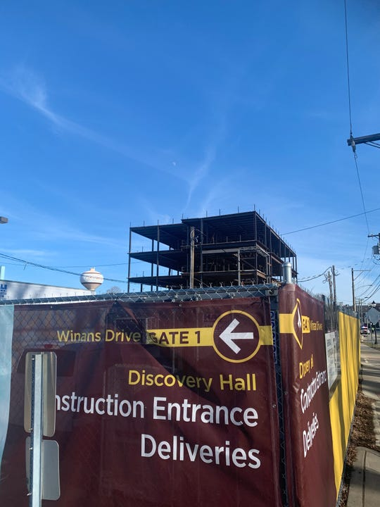 Discovery Hall - the academic home for paleontologists and geologists - is under construction on Rowan University's Glassboro campus Feb. 3, 2020.