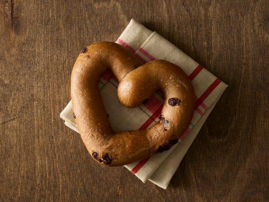 Heart-shaped bagel from Einstein bagels