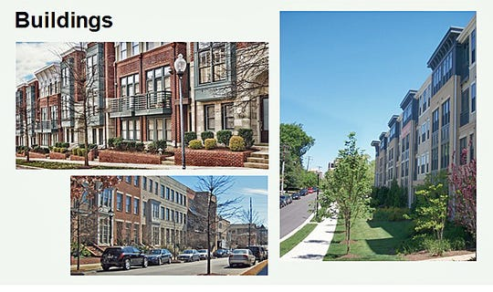 West Chester Township trustees approved the Lofts and Union Centre development that includes six multi-family buildings similar to these in an urban, street-scape design.