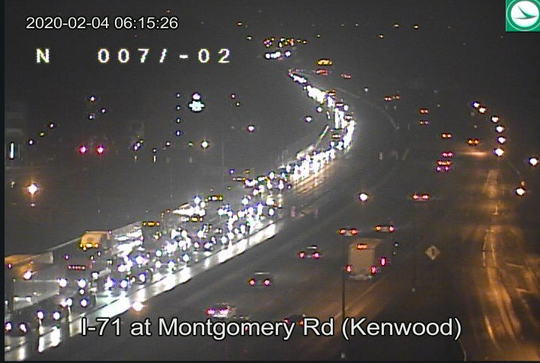 A semi crash on SB I-71 past Montgomery is causing delays